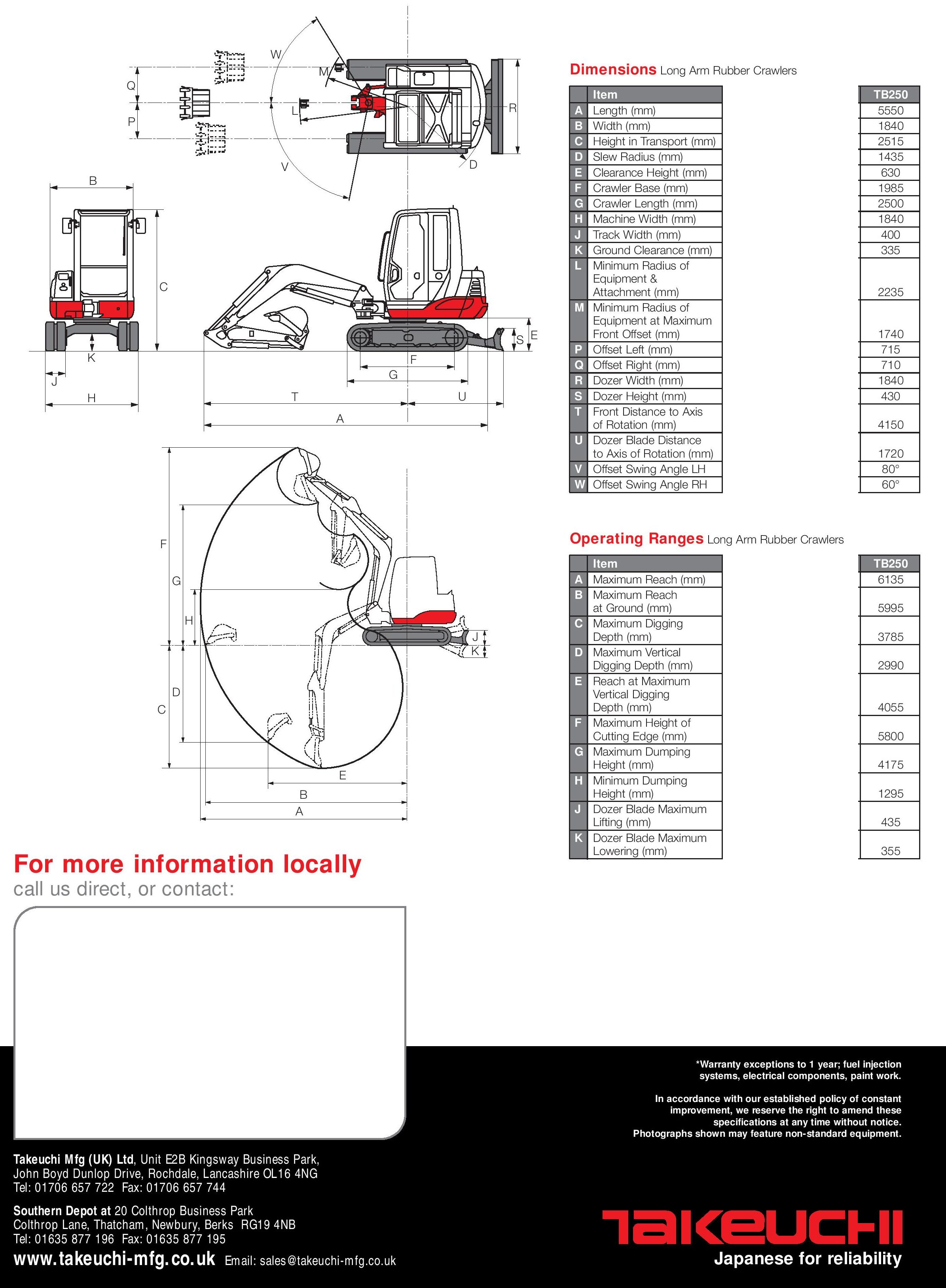 Takeuchi Excavator Supplier Worldwide | Used 2010 Takeuchi