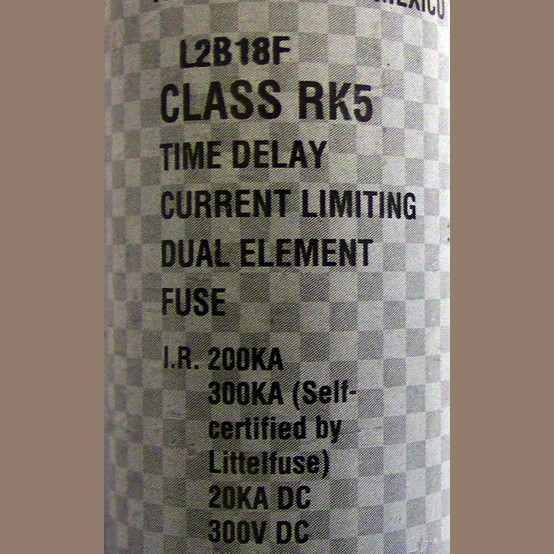 Used Littlefuse 125 Amp Class Rk5 Fuse For Sale