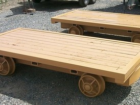 Custom Built Flat Deck Mine Cars