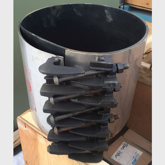 Used 12 Inch Stainless Steel Repair Clamp For Sale