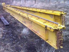 Used Steel. 24 in. x 51 ft. Long I-Beams.