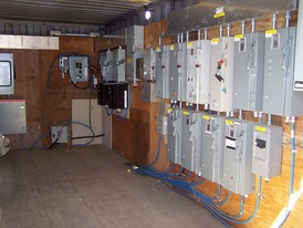 Used Electrical Equipment. 20 ft. Sea Container with Complete Electrical. Please Inquire for Details.