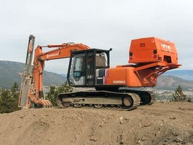 Hitachi EX200LC with CPA220 Drill