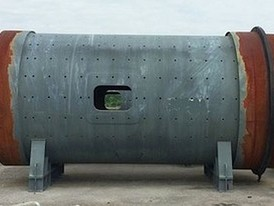 Polysius 10.5 ft x 17.2 ft Ball Mill