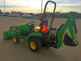 John Deere 1025R Factory Installed Loader Backhoe