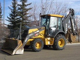 John Deere 410J Loader Backhoe