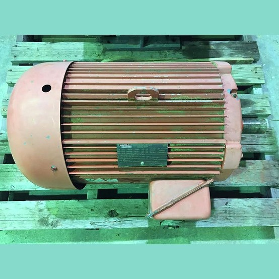 Used 30 hp tefc electric motor for sale lincoln electric for Used electric motors for sale