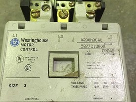 Westinghouse Size 3 Electric Starter
