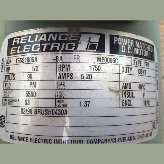 Reliance Electric Motor Supplier Worldwide Used 0 5 Hp