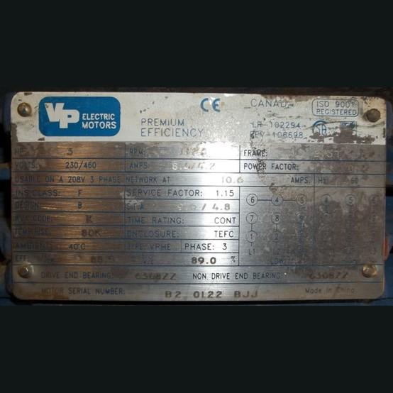 Vp Electric Motor Supplier Worldwide Used 3 Hp 230 460v