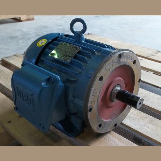 Weg electric motor supplier worldwide used 3 hp 575v for Weg severe duty motor