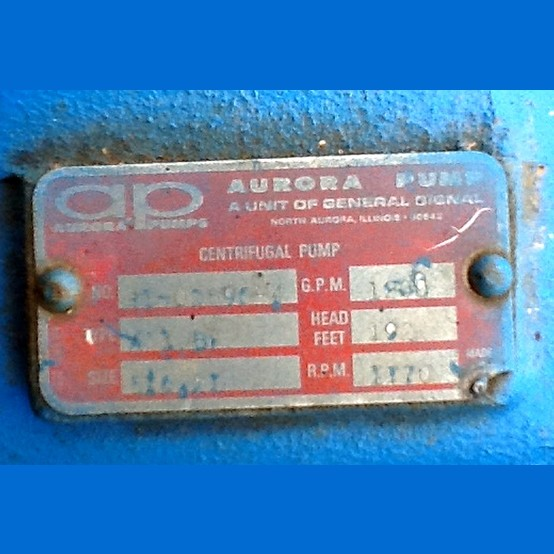 Aurora Horizontal Split Case Pump Supplier Worldwide | Used Aurora