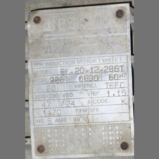 Weg Electric Motor Supplier Worldwide Used Weg 20 Hp
