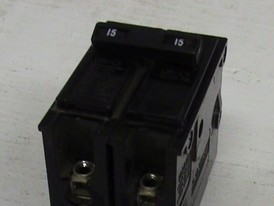 Cutler Hammer 2 Pole 15 Amp Push-in Breaker