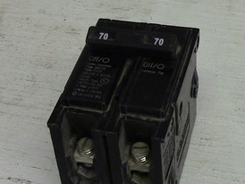 Cutler Hammer 2 Pole 70 Amp Push-in Breaker