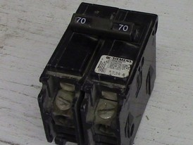 Siemens 2 Pole 70 Amp Push-in Breaker