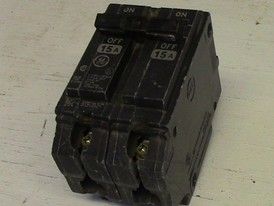 General Electric 2 Pole 15 Amp Bolt-on Breaker