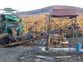 Goldfield 75 YPH Shaker Deck Gold Wash Plant
