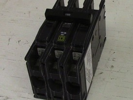 Square D 3 Pole 100 Amp Type Q0U Breaker