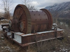 6 ft. x 6 ft. Rubber Lined Ball Mill