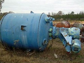 Stainless Steel Process 1400 Gallon Agitated Pressure Tank