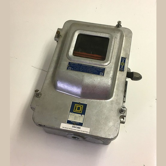 Used Square D 30 Amp Explosion Proof Fusible Disconnect