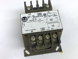 Allen Bradley 75 VA Single Phase 600/120 Volt Control Transformer