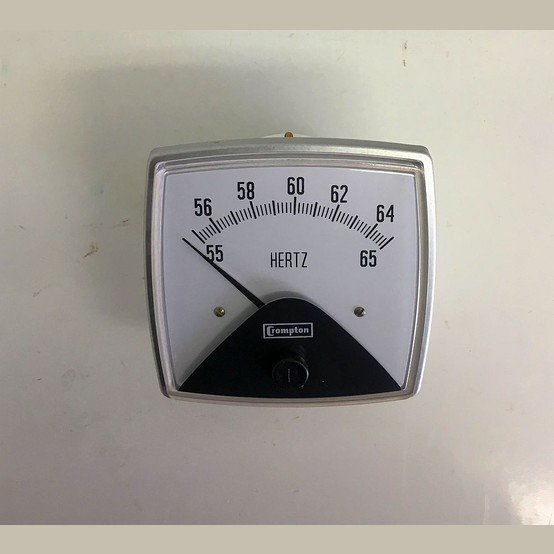 New Crompton 55 65 Hertz Analog Meter For Sale