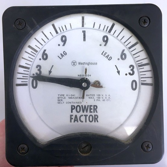 Analog Power Meter : Used westinghouse power factor analog meter for sale