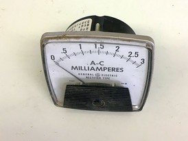 General Electric Milli-Amp Analog Ammeter