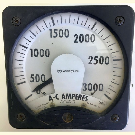 Used Westinghouse 0 3000 Amp Analog Ammeter For Sale