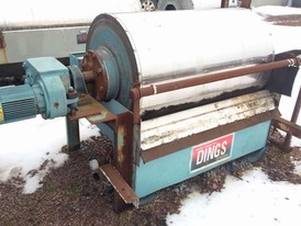 Dings 30 x 48 Wet Drum Magnetic Separator