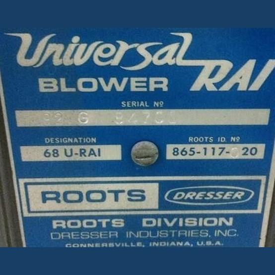 Roots Dresser 68 U Rai Positive Displacement Blower