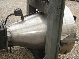 Stainless Steel 10 cu. ft. Conical Hopper