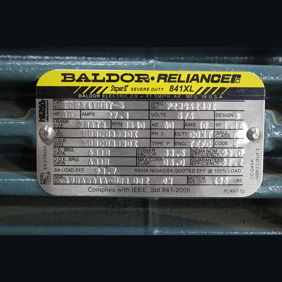 Baldor 30 hp motor supplier worldwide used baldor for Baldor reliance super e motor