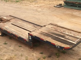 8.6 ft wide X 33.6 ft long Step Deck Trailer With Beaver Tail