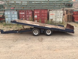 Miller 8.6 ft wide X 21 ft long Tilt Deck Trailer