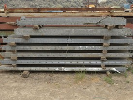 8 in. x 5 in. Galvanized Steel H Beam