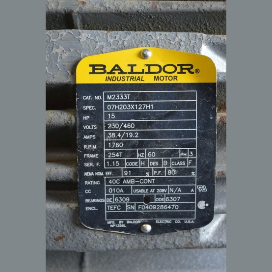 Baldor 15 Hp Electric Motors Supplier Worldwide Used Baldor Electric Motors For Sale