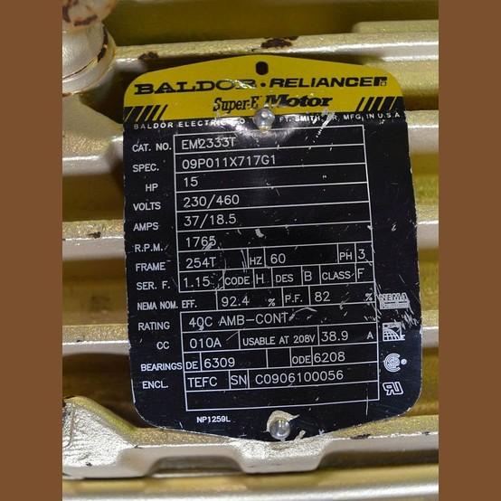 Baldor super e 15 hp motor supplier worldwide used for Baldor 15 hp motor