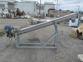8 in. x 10 ft. SS Screw Conveyor