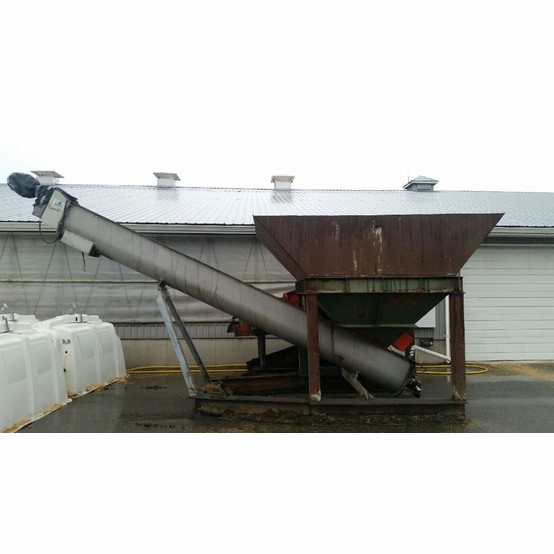 20 In X 20 Ft Stainless Steel Auger With Feed Hopper For