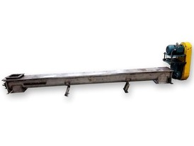 "6"" Dia. x 10' Long Screw Auger Feeder Conveyor"