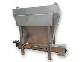 Anderson & Dahlen Stainless Bin with Screw Feeder