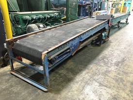 36in. wide x 12.6 ft. Powered Rubber Belt Conveyor