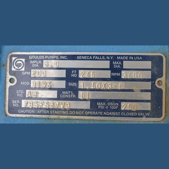 Goulds 3196 Centrifugal Pump