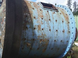 8ft. Dia. x 8ft. Long Allis Chalmers Ball Mill