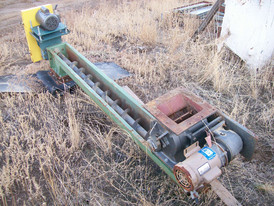 Used Auger. 6 in. x 7 ft Long.1/2 HP Motor.