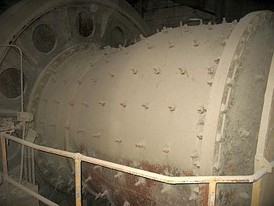 9.5 ft. dia. x 10. ft. long Allis Chalmers Preliminator Ball Mill.