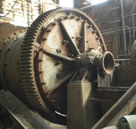 Used Eimco Ball Mill. 6 ft. dia. x 5 ft. Long. 100 HP Motor. Metal Liners.